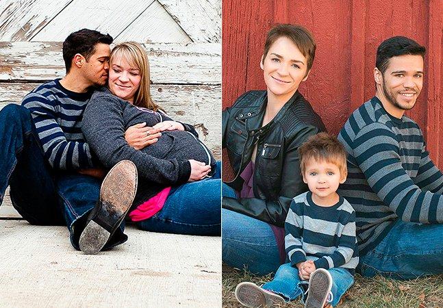 Casal de pais divorciados se reúne todos os anos para tirar lindas fotos de família com seu filho