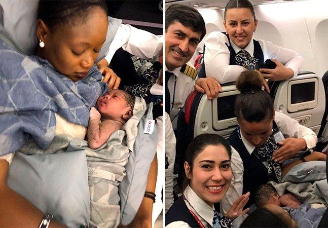 Com ajuda da tripulação, jovem dá à luz em pleno voo, a quase 13 mil metros de altura