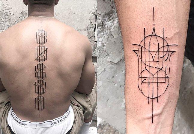 Arte escrita na pele: as maravilhosas tattoos tipográficas de Léo Gavaggio
