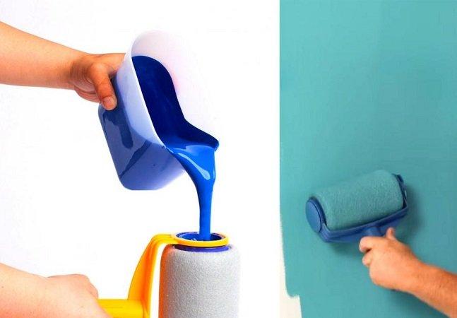 Pincel com compartimento interno de tinta permite pintar paredes com ZERO sujeira