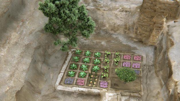 Reconstituição: arqueólogos acreditam que o jardim se parecia com isto