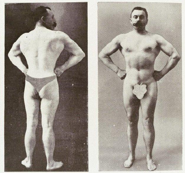 2-photographs-of-bodybuilder-and-professor-Desbonnet