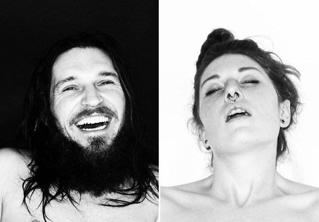Ela criou uma série que capta o rosto de pessoas no momento do orgasmo