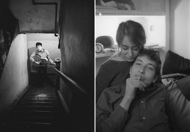Série de fotos registra o jovem Bob Dylan com 20 anos pouco tempo antes de se tornar uma estrela
