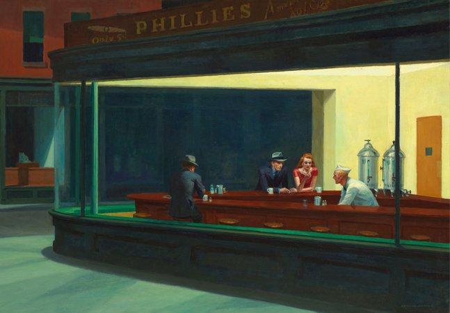 Pinturas de Edward Hopper ganham vida própria em GIF's artísticos que celebram a obra do ícone americano