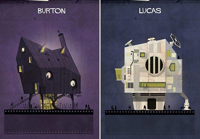 Ilustrador imagina como seriam as casas de diretores de cinema se fossem inspiradas em seus próprios filmes
