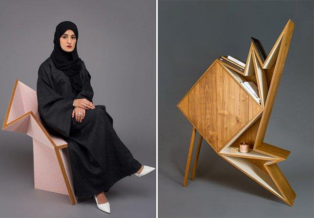 Esta sofisticada coleção de móveis foi toda inspirada em origamis