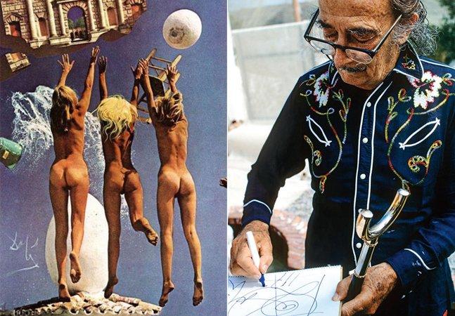 Fotos raras mostram o ensaio feito por Salvador Dalí para a Playboy nos anos 70 [NSFW]