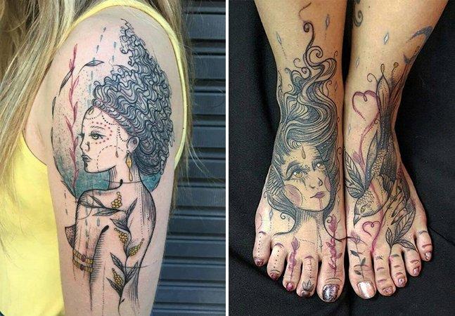 A força visceral e doce das belas tatuagens da pernambucana Scarlath Louyse