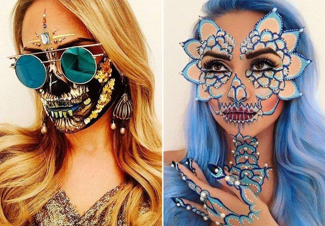 Ela faz em seu trabalho como maquiadora as máscaras de caveira mais legais do mundo
