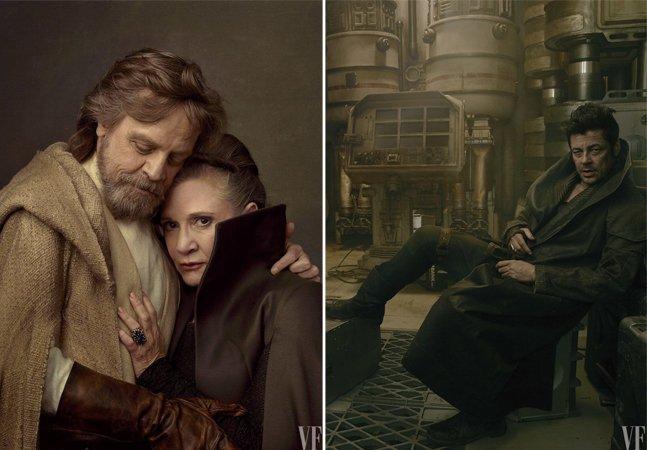 Ensaio fotográfico comemora 40 anos de Star Wars, revelando novos atores e homenageando Carrie Fisher