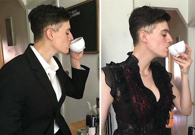 Modelo andrógina posa como homem e mulher pra desafiar estereótipos e mostrar como isso não é importante