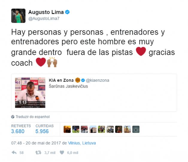 augusto lima tweet