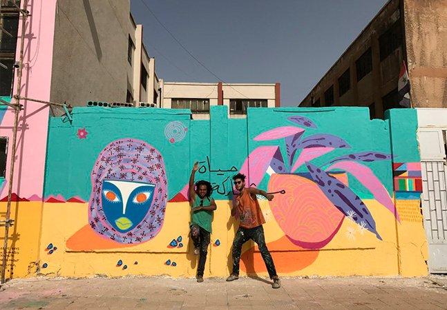 Grafiteiros de Curitiba criam o maior mural urbano já feito na Síria
