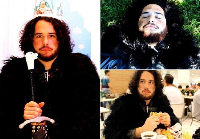Ele se parece tanto com Jon Snow que resolveu encarnar o personagem nas horas vagas