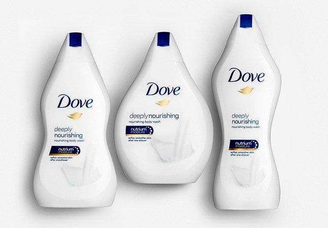 Dove celebra diversidade do corpo feminino com embalagens diferentes do mesmo produto