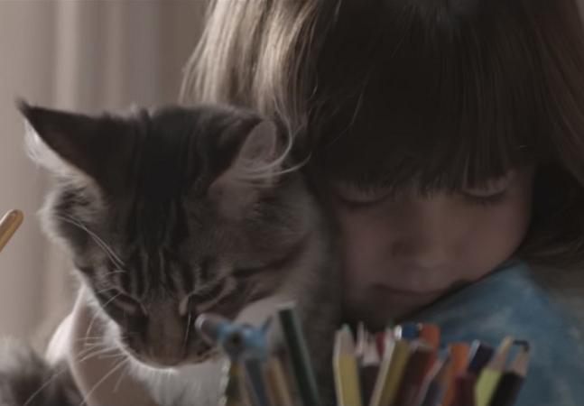 Vídeo retrata menina autista e seu gato de terapia e desafia pessoas a contar suas histórias com gatos