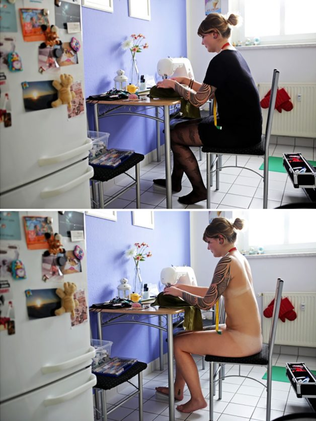 naked-people-doing-everyday-things-with-and-without-clothes-sophia-vogel-14