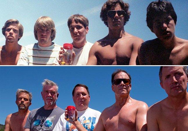 Amigos que tiram a mesma foto há 35 anos viralizam com novo clique em 2017