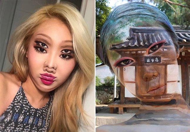 Artista cria inacreditáveis ilusões de ótica com tinta e maquiagem, podendo até ficar transparente