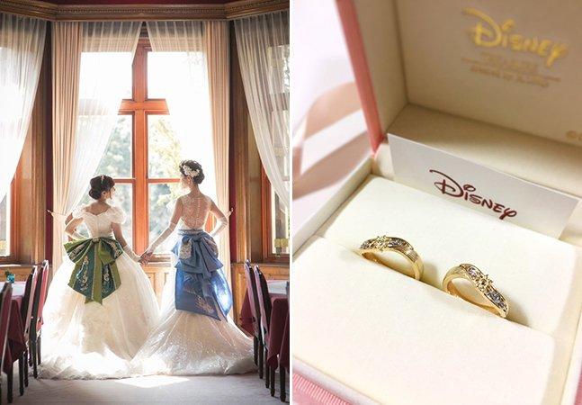 Loucas pela Disney, elas provaram em seu casamento que a verdadeira magia está no amor