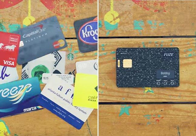 O cartão Fuze quer reduzir o tamanho da sua carteira para um único cartão inteligente e inovador
