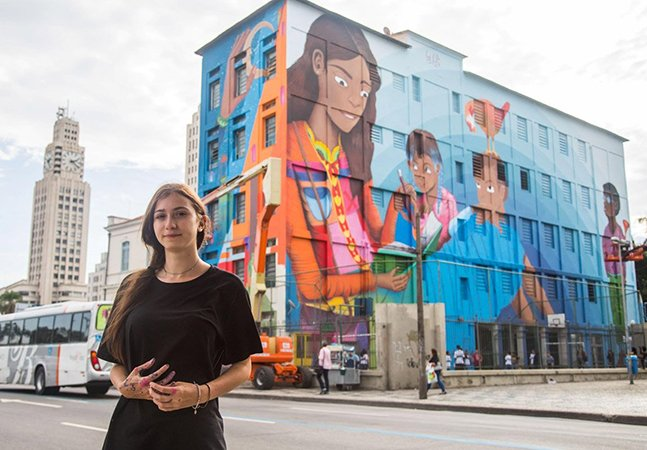 O maior grafite do mundo fica no Rio de Janeiro e foi feito por uma mulher