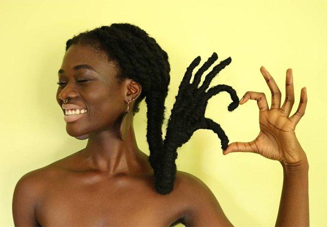 A mulher que faz verdadeiras obras de arte usando apenas seu (incrível!) cabelo