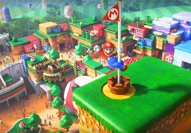 Já chegaram as primeiras fotos do parque de diversões da Nintendo e dá para ter certeza de que vai ser incrível
