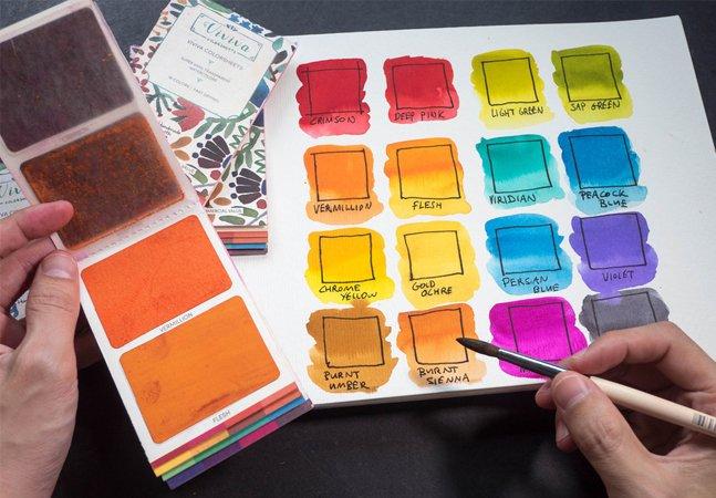O incrível kit de aquarelas que cabe no bolso e te permite pintar em qualquer lugar