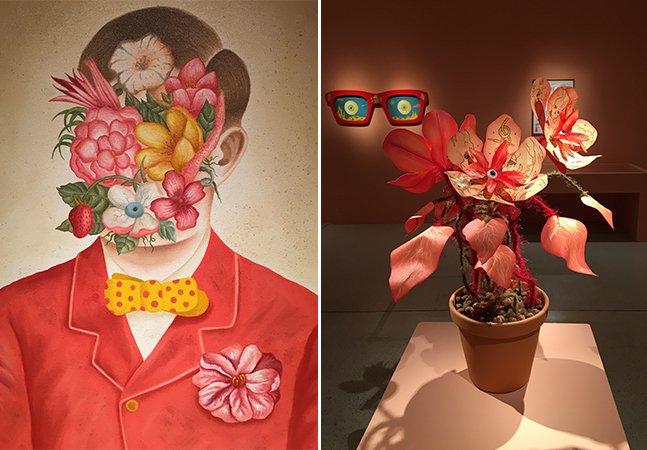 Artista curitibano cria exposição lúdica que mistura o real e o surreal, criando um mundo mágico e cheio de cor