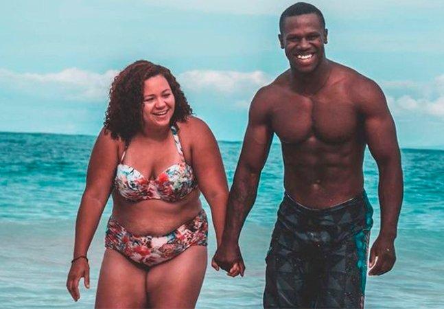 Ela publicou um texto e uma imagem com seu namorado que viralizou e levantou o debate sobre padrões