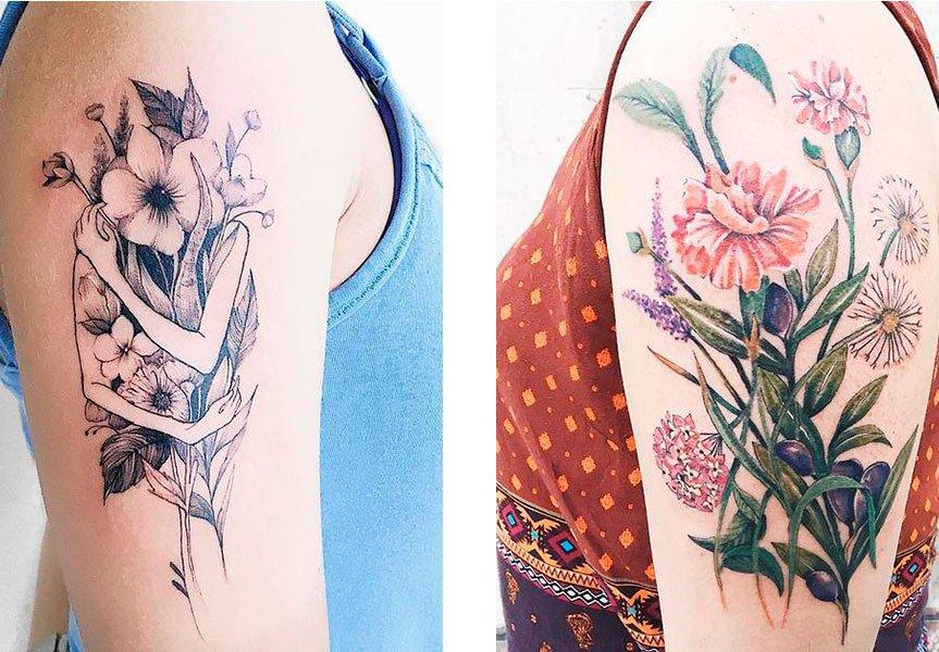 Suavidade, natureza e criatividade são as marcas das tattoos de Luiza Oliveira