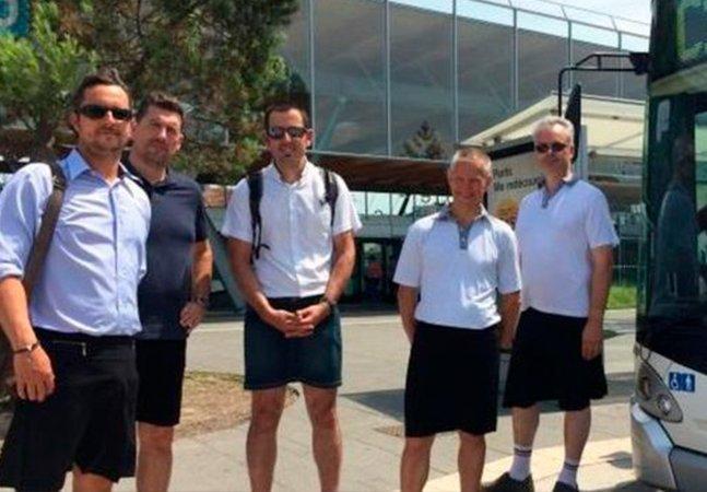 Motoristas de ônibus franceses criam solução genial para proibição de usar bermuda no verão