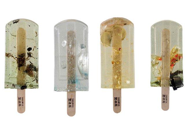 Sorvetes sabor inusitado chamam a atenção para a poluição da água