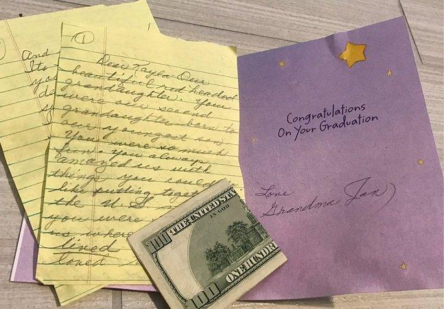 Ela recebeu um emocionante presente de formatura da avó que faleceu há 14 anos