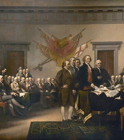 Descendentes dos fundadores dos EUA recriam pintura icônica com 241 anos e mostram como tudo mudou