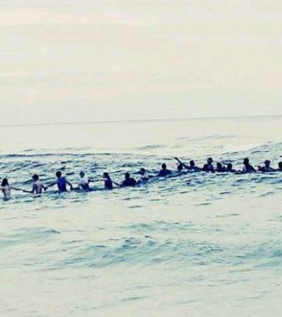 80 banhistas formam corrente humana para salvar 9 pessoas que se afogavam na Flórida