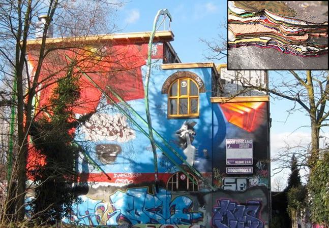 Artista mostra o que aconteceu com uma parede que vem sendo grafitada há 30 anos