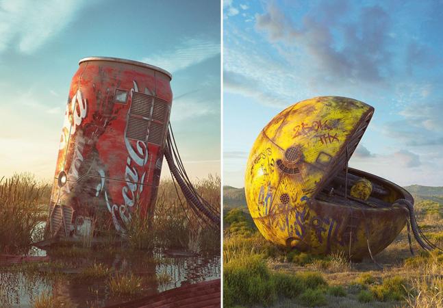 O incrível trabalho de Filip Hodas, o cara que 'desenhou' o apocalipse da cultura pop