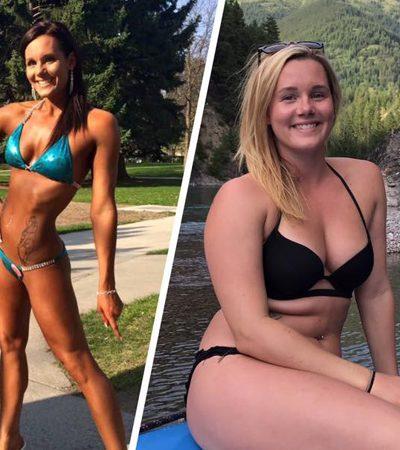 Fisiculturista inverte a lógica do 'antes e depois' e diz que agora está muito mais feliz