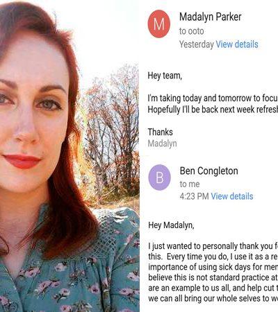 Jovem pede folga para cuidar de sua saúde mental, e a bela resposta do seu chefe viraliza
