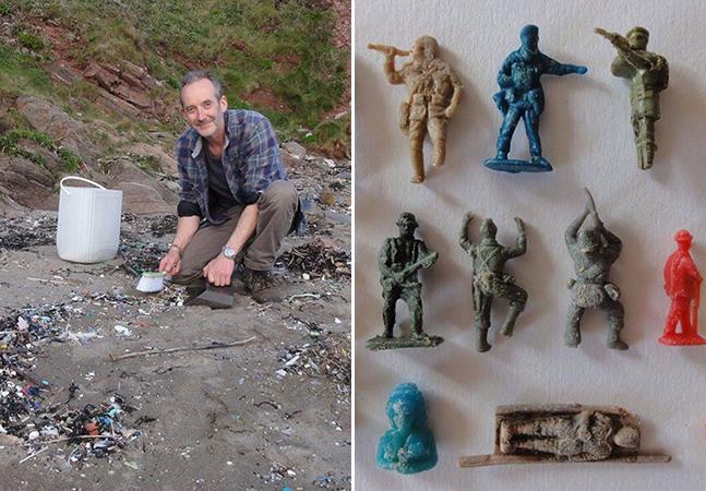 O que esse artista encontra na praia é incrível, surpreendente e trágico ao mesmo tempo