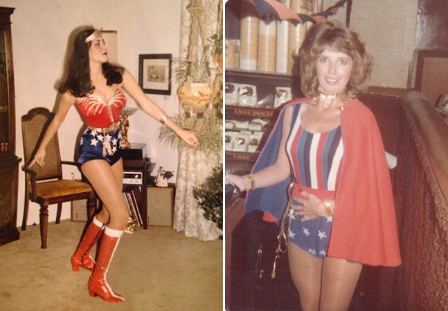 Série de fotos vintage mostra mulheres arrasando nas décadas de 70 e 80 fantasiadas de Mulher Maravilha