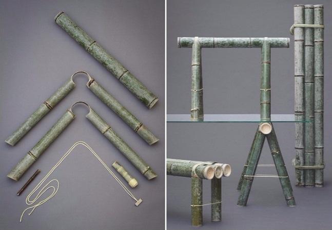 Designer cria maravilhosos móveis feitos de bambu que mudam de cor ao longo do tempo