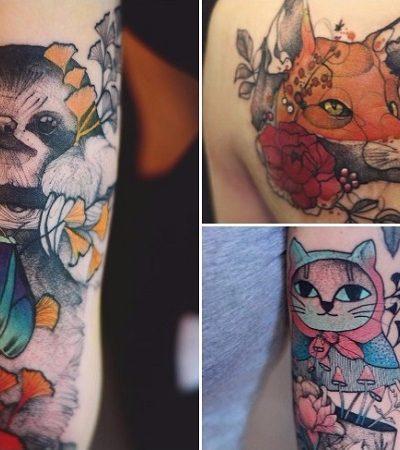 As elegantes tatuagens de animais da polonesa Joanna Swirska
