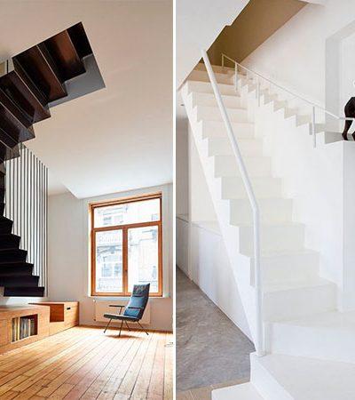 Escadas diferentonas que vão deixar sua casa super moderna