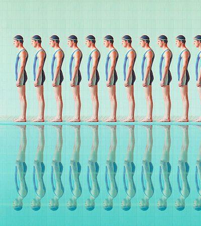 Fotos retratam a simetria de nadadores e dão inexplicável satisfação a quem vê