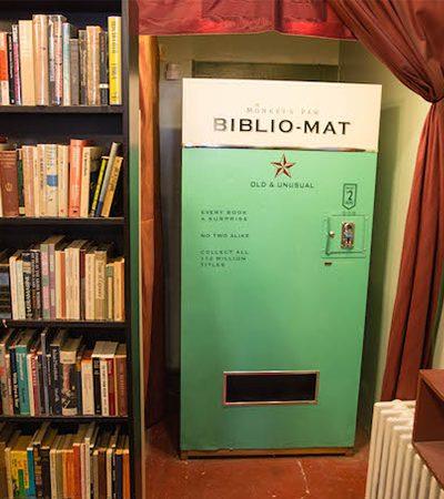 A maravilhosa vending machine que vende livros randomicamente por 2 dólares