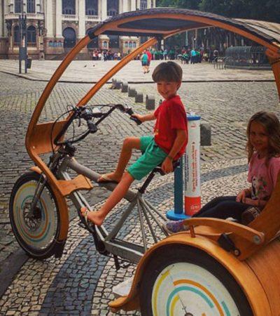 O bicitáxi movido a energia solar que quer ganhar as ruas do Rio de Janeiro